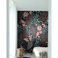 Non-Woven wallpaper Dark Bohemian Vintage flowers  Traditional art Home Mural