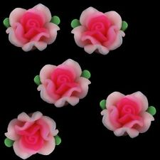 Ceramic, Clay Porcelain Flower Jewellery Making Craft Beads