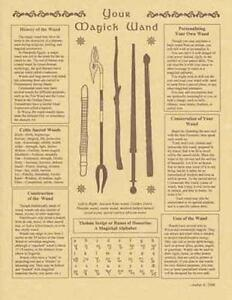 YOUR MAGICK WAND Parchment-Like Page for Book of Shadows, Altar!