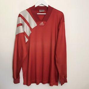 Vintage Adidas Equipment Long Sleeve T-Shirt 90s Retro Red Tee Men's XL