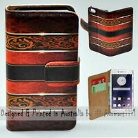 For OPPO Series - Vintage Damask Theme Print Wallet Mobile Phone Case Cover
