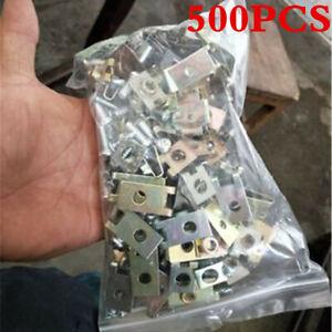 500Pcs Mixed Auto Car Fastener Clip Bumper Fender Trim U-Type Rivet Door Panel