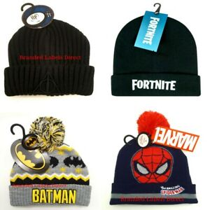 PRIMARK FORTNITE HAT BOYS CHARACTER / HARRY POTTER / BATMAN  WINTER BEANIE HAT
