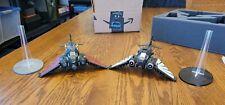 Warhammer 40K Painted Nephilim Jetfighter & Ravenwing Dark Talon & Custom Foam