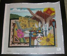 New ListingPeter Ashe New Mexico Handpainted Needlepoint Canvas
