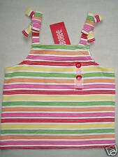 Gymboree CHERRY BABY Striped Pink Red Green Yellow Bow Tank Top Shirt NWT 2T