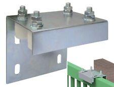 Piastra guida regolabili 4 rulli olive in nylon per cancello portone scorrevole