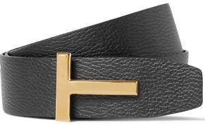 "Tom Ford Signature T Buckle Reversible Black/Brown Icon Belt 40"" EU 105cm"