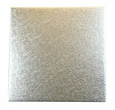 "5 X Square Silver Cake Boards 12"" Wedding Birthdays"