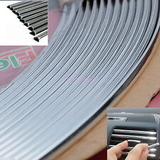 15M 6mm U Shape Bumper Air Vent Grille Switch Rim Chrome Trim Strip Moulding