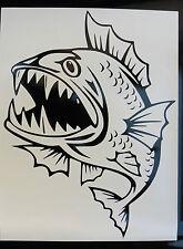 Angry Raro peces stickers/car/van / bumper/window/decal Pesca La Pesca 5191 Bk