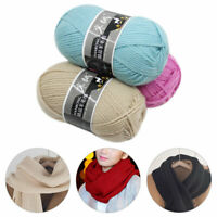 100g/Ball Thick Wool Yarns 3Ply DIY Hand Knitting Crochet for Sweater Hat Thread