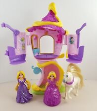 Disney Princess Little Kingdom Rapunzel's Tower & Polly Pocket Figures Maximus