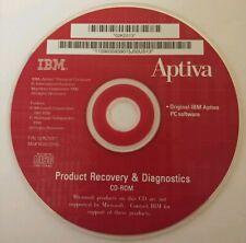 Original IBM Aptiva PC Software Recovery & Diagnostics 1998 CD -ROM Disc 02K2512