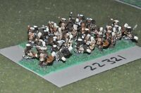 15mm colonial / zulu - warriors 30 figs infantry - inf (22321)