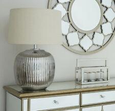Urbi Large Silver Accent Table Lamp Ceramic Desk Light Boutique Hotel Lighting