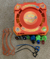 Beyblades Metal Fusion Arena+Spinners, Launchers-GOOD CONDITION! RETIRED ARENA!
