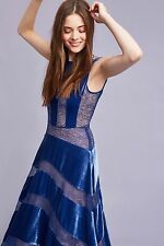 NWT New Anthropologie Velvet Frost Maxi Blue Dress by Tracy Reese Size 8