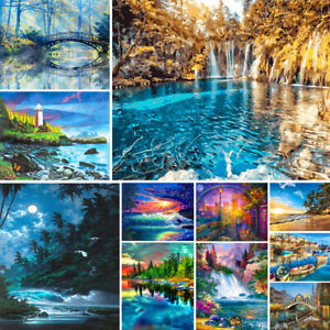 DIY Paint By Number Kit Digital Oil Painting Artwork Scenery Wall Art Home Decor