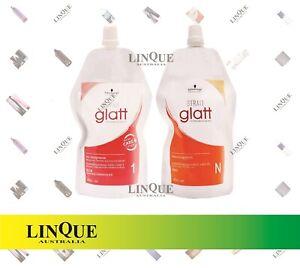 Schwarzkopf Glatt Curly Hair Straightening Chemical Straightener Cream Strait #1