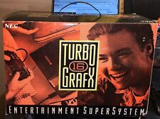 TURBO GRAFX 16 NEC SUPER SYSTEM TESTED AND COMPLETE WITH BOX