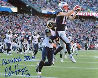 """Chris Hogan """"Always Open"""" Autographed Vs. LA Rams 8x10 Photo"""
