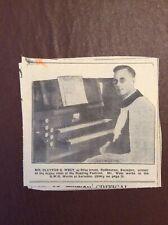 h1q Ephemera 1935 Picture Swindon Organ Player Mr Clayton G West