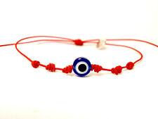 2019- Pulsera amuleto y ojo turco con hilo rojo