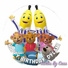 BANANAS IN PYJAMAS ROUND 7 INCH EDIBLE IMAGE CAKE TOPPER BIRTHDAY PARTY KIDS