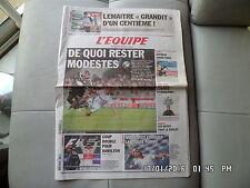 L'EQUIPE DU 30/08/2010 Bordeaux Marseille OM Hamilton Ben Arfa Lemaitre  J55