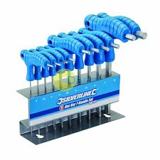 Professional T Bar Driver Dual HEX 10 Pc Piece Metric Allen Key set T-Handle