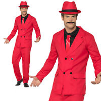 Kids Gangster Zoot Pinstriped Suit 1920s 30s Boys Childrens Fancy Dress Costume