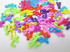 100 Mixed Acrylic Alphabet Letter Charm Beads Bracelet Crafts Jewellery Making