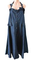 City Chic Dress Size Plus Large Blue Denim Skater Halterneck Rockabilly