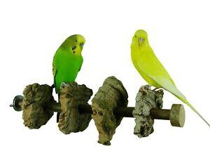 Knabberkork Sitzstange -30 cm  für Wellensittiche, Nymphensittiche und Papageien