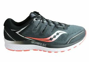 Saucony Mens Guide ISO 2 Comfortable 2E Wide Width Athletic Shoes - Mesh