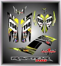 Yamaha Raptor 700 06-12  SEMI CUSTOM GRAPHICS KIT MILK CHESTER YELLOW SHOCKER