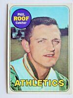 Phil Roof #334 Topps 1969 Baseball Card (Oakland Athletics) VG