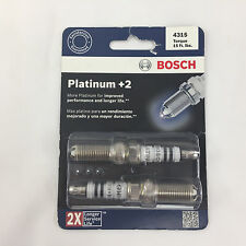 Bosch Platinum +2 Spark Plugs 4315  1 PACK (x1) 2 Plugs Total NEW