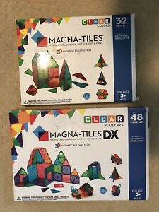 MAGNA-TILES DX The Original 3D Magnetic Building Tiles 2 Boxed Sets! 80 pieces