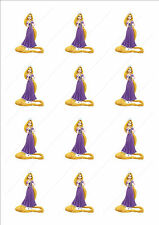 Novelty Rapunzel Edible Cake Cupcake Toppers Decorations Birthday Girls Cute