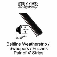 "Universal Window Beltline Seal - Sweeper - Fuzzy - 7/16"" Tall X 15/64"" Wide"
