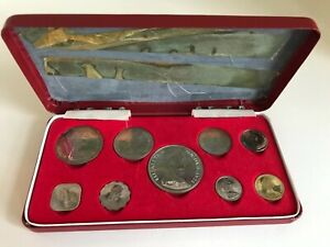 1969 Coinage of the Commonwealth of the Bahama Islands; 9 Coin Proof Set; No COA