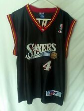 CHRIS WEBBER PHILADELPHIA 76ERS NBA BASKETBALL PRO CUT JERSEY CHAMPION SIZE 52