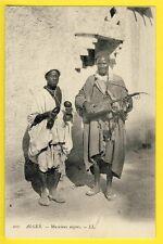 cpa Scènes et Types ALGER vers 1900 MUSICIENS de Rue AFRICAINS Nègres