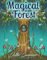 Magical Forest An Adult Coloring Book with Enchanted Forest Animals, Cute Fanta
