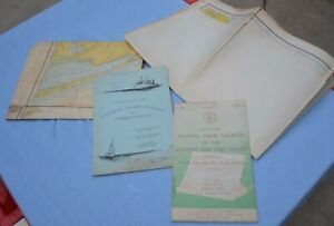 VTG Lot of Nautical Charts and Symbol Booklets 1960's