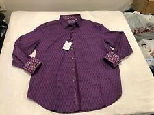 NWT $198.00 Robert Graham Becker LS Buttondown Purple Size LARGE
