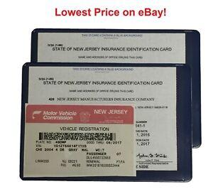 5 (5) AUTO CAR TRUCK INSURANCE REGISTRATION ID CARD CASE WALLET HOLDER a