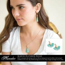NIB Plunder Design Fun March Posse Amazing Necklace an Earring Sets and necklace